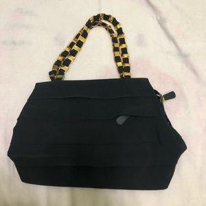 AUTHENTIC FERRAGAMO BLACK SHOULDER BAG